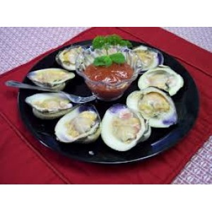 4 dozen Little Neck Clams on The Hallf Platter